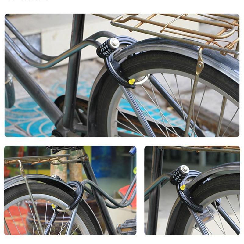 ULAC Key Bike Motorcycle Horseshoe Cable Lock Bicycle Anti-theft Lock Black New