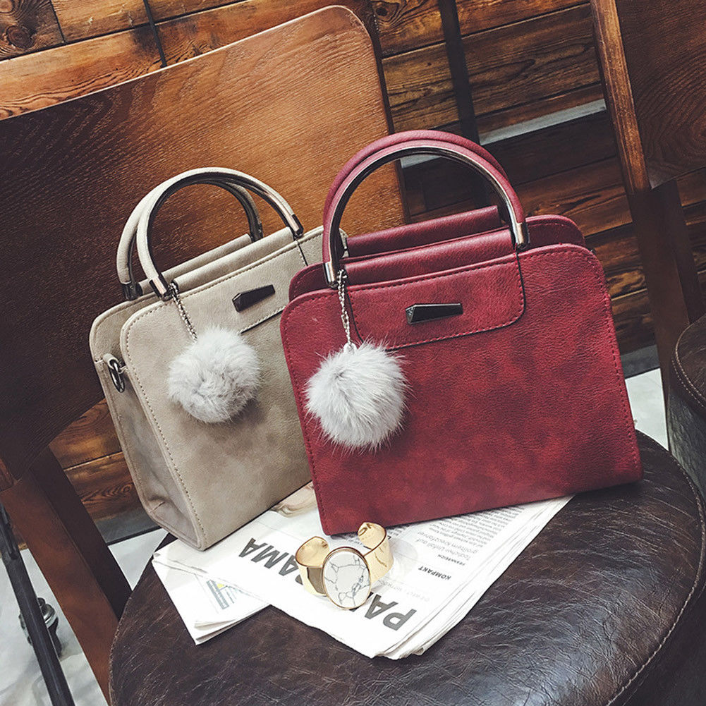 0dd264466c21 US $2.64 46% OFF|2019 New Style Fashion Women Ladies Crossbody PU Leather  Shoulder Bag Tote Purse Handbag With Tassel Satchel-in Top-Handle Bags from  ...