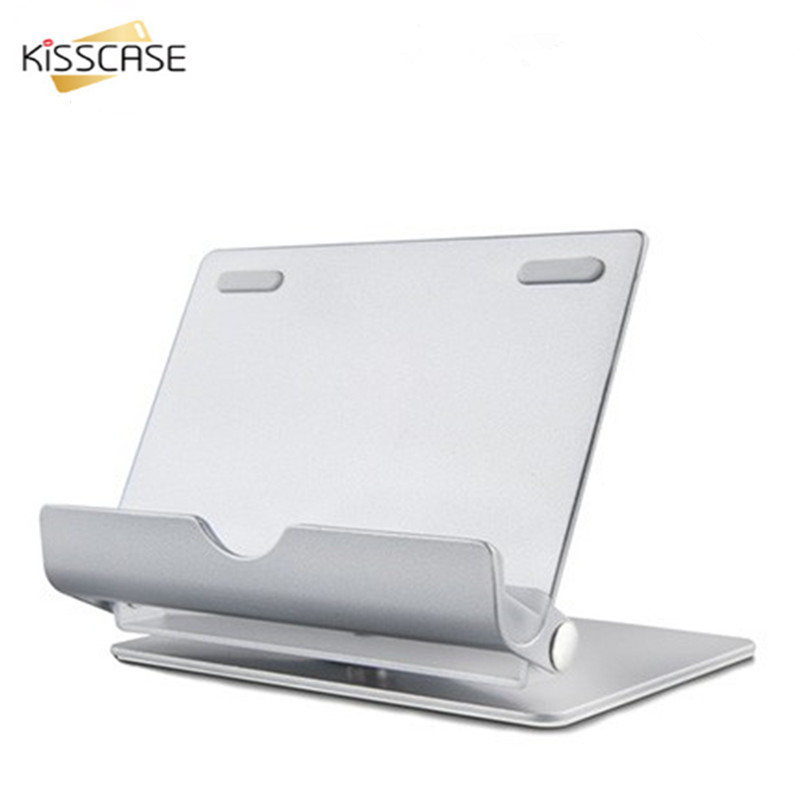 KISSCASE Universal Adjustable Tablet PC & Phone Stand Holder Aluminum Alloy Desktop Lazy Support Folding Detachable Bracket