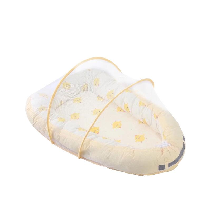 Baby Protable Travel Comfortable Bed Lounger Breathable Hypoallergenic Cotton Washable Foldable Crib For Bedroom Little BedBaby Protable Travel Comfortable Bed Lounger Breathable Hypoallergenic Cotton Washable Foldable Crib For Bedroom Little Bed