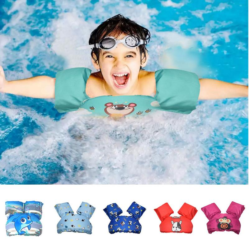 Cartoon Baby Floats For Pool Kids Life Jacket Swimming Trainers Swim Vest With Arm Wings For Boys Girls