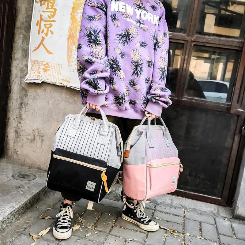 Backpack Bags Student School Bag Girl Hit Color Maternity Backpacks Large Travel Rucksack Mochila