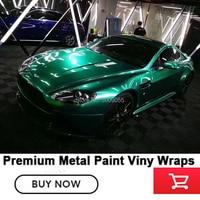 Выделите металлические виниловые обертки автомобиля изумруд полный обертки Автомобиля Виниловые обертки супер блеск зеленый винил океан