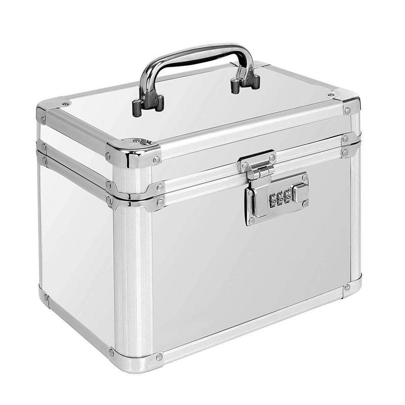 Boîte de rangement de passeport en métal boîte de rangement sûre de haute qualité organisateur cosmétique bijoux organisateur décoration de bureau de ménage - 5