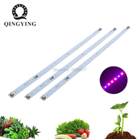 10 50pcs Led Plant Grow Light SMD2835 Hydroponic Systems Grow Led Bar AC220V 10W 520mm LED Grow Strip Lights For T5 T8 Tube