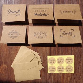 18 sztuk paczka (6 sztuk kart Kraft 6 sztuk koperty 6 sztuk Scrapbooking f01) koperta z papieru pakowego dla studentów wiadomość zestaw kart dziękuję papieru tanie i dobre opinie 9x7cm Prezent koperty 17A200-206 BZNVN Portfel koperta