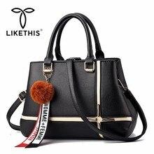 LIKETHIS Shoulder Bag Female Handbag Pu Leather Clutch Fashion Messenger Bags Designer Women Casual High Quality Tote Bag 2019