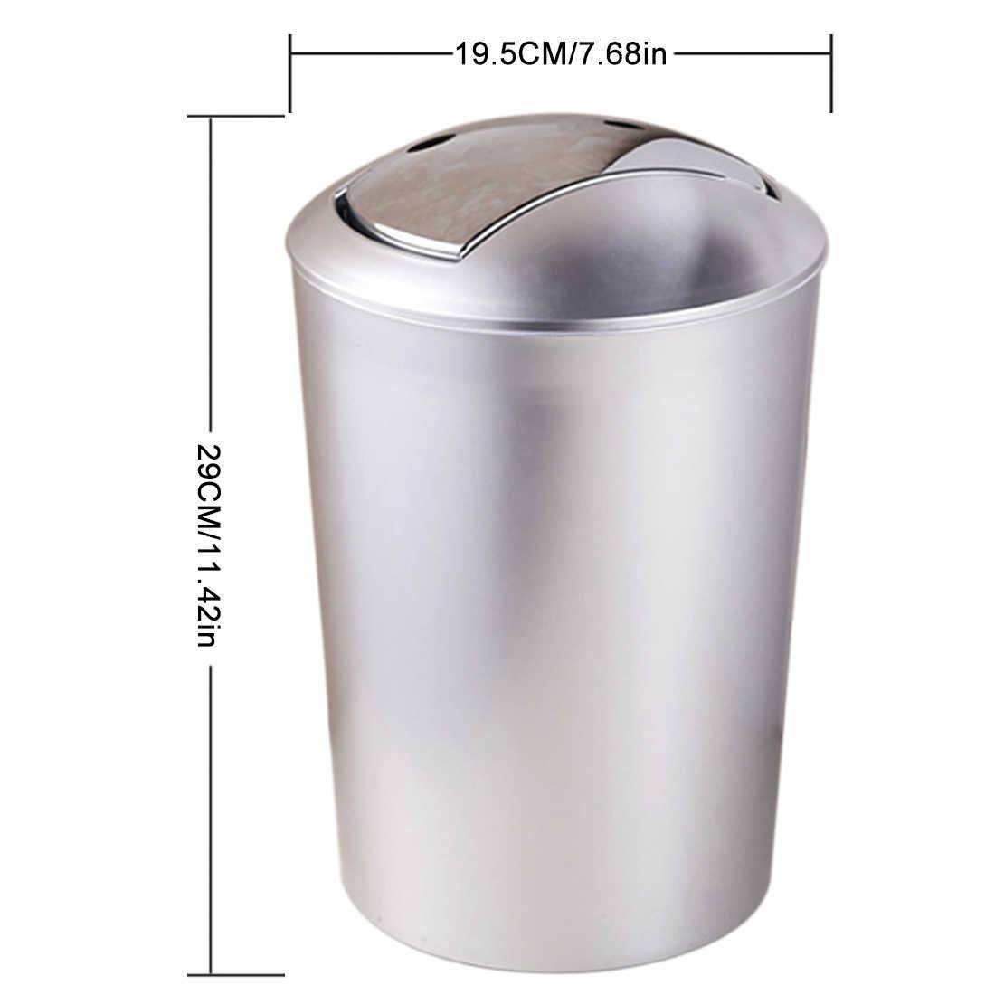 Waste Bins Solid Wood Wastebasket Or Recycling Bin Swing Lid Trash Can Kitchen Waste Bin Decorative Garbage Can For Office Bathroom Bedroom Wastebasket Home Storage Organization