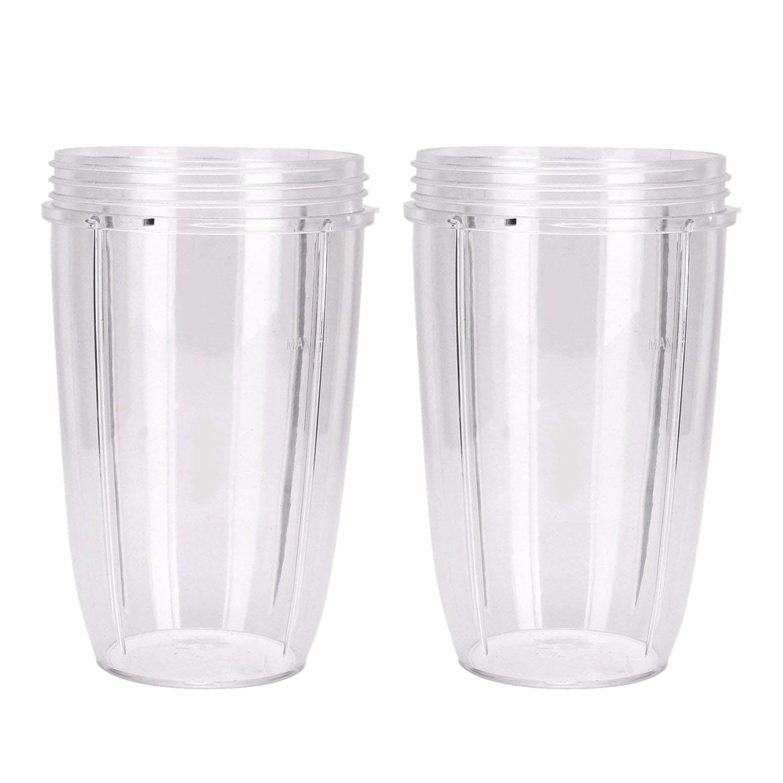 2PCS Juicer Cup Mug Clear Replacement For NutriBullet Nutri Bullet Juicer