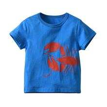VTOM Summer Top Baby Boys T-Shirt  Kids Short Sleeve Blue Pure Cotton Clothes With Quality Assurance XN45