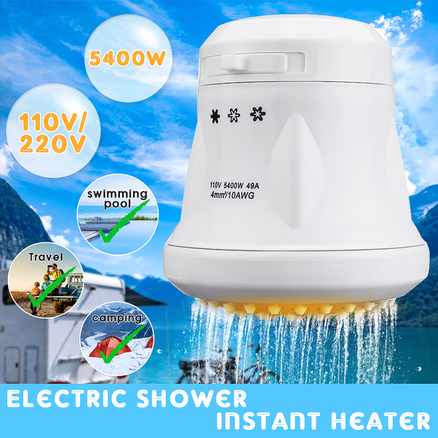 St 08 3800w 5400w 110v 220v Electric Shower Head Tankless Instant