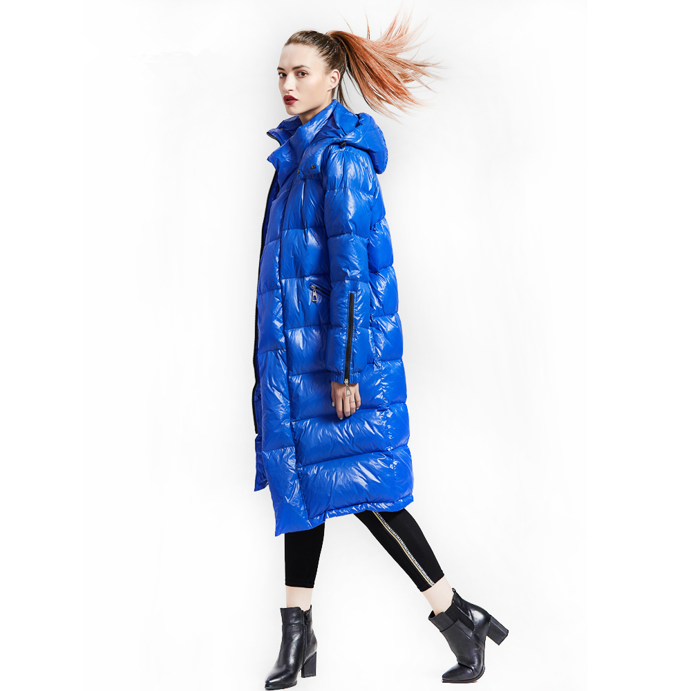 Factory Direct 90% White Duck   Down   Jacket Women Thicken Long Winter   Coat   Parka Hooded Korean Female Puffer Jacket Doudoune Femme