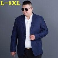 Плюс размеры 8XL 7XL 6XL 5XL 4X высокое качество костюмы весна и осень костюм мужской модный блейзер Мужской повседневное мужской блейзер