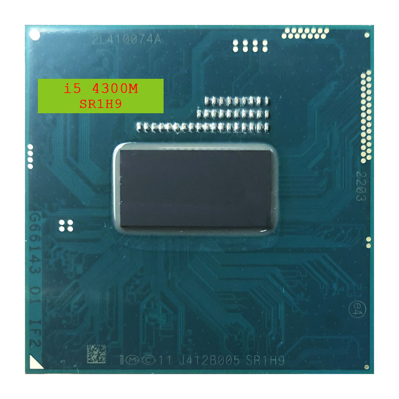 Intel Core i5 4300M i5 4300M SR1H9 2.6 GHz Dual Core Quad Thread CPU Processor 3M 37W Socket G3 / rPGA946B-in CPUs from Computer & Office