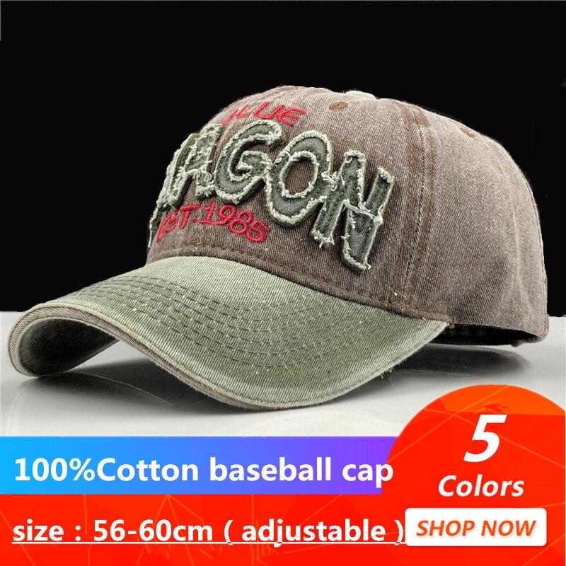 100% Gewaschen Baumwolle Männer Baseball Kappe Ausgestattet Kappe Snapback Hut Für Frauen Gorras Casual Casquette Stickerei Brief Retro Cap
