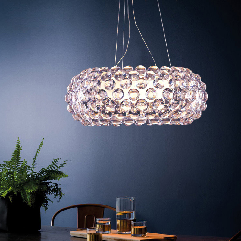 Caboche LED Suspension Lamp Chandelier Acrylic Lustre De Large Round Chandeliers Restaurant Cord Lamps Hanging lighting Lamparas|Chandeliers| |  - title=