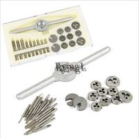 ** 30Pcs Mini HSS Tap and Die Micro Wire Tapping Wrench Tool Set Thread Plugs M1 to M2.5 Screw