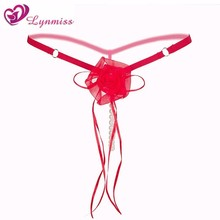 2018 New Lynmiss Sexy Lingerie G String Women Pearls Tangas Thongs Exotic Apparel Erotic Costumes Underwear