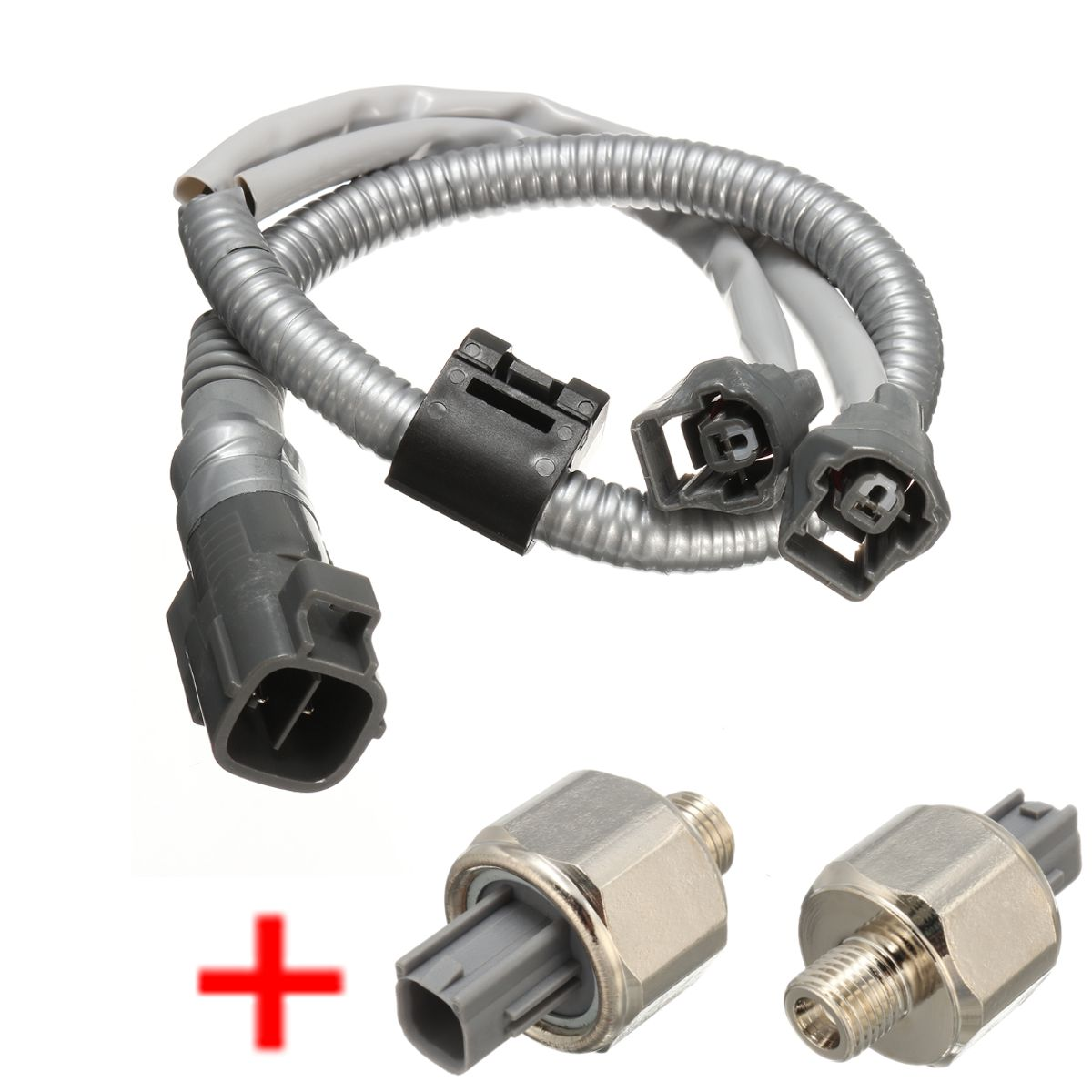 hight resolution of 2 knock sensor with wire harness for toyota camry avalon solara highlander es330 for lexus rx300 8221933030 82219 07010 in detonation sensor from
