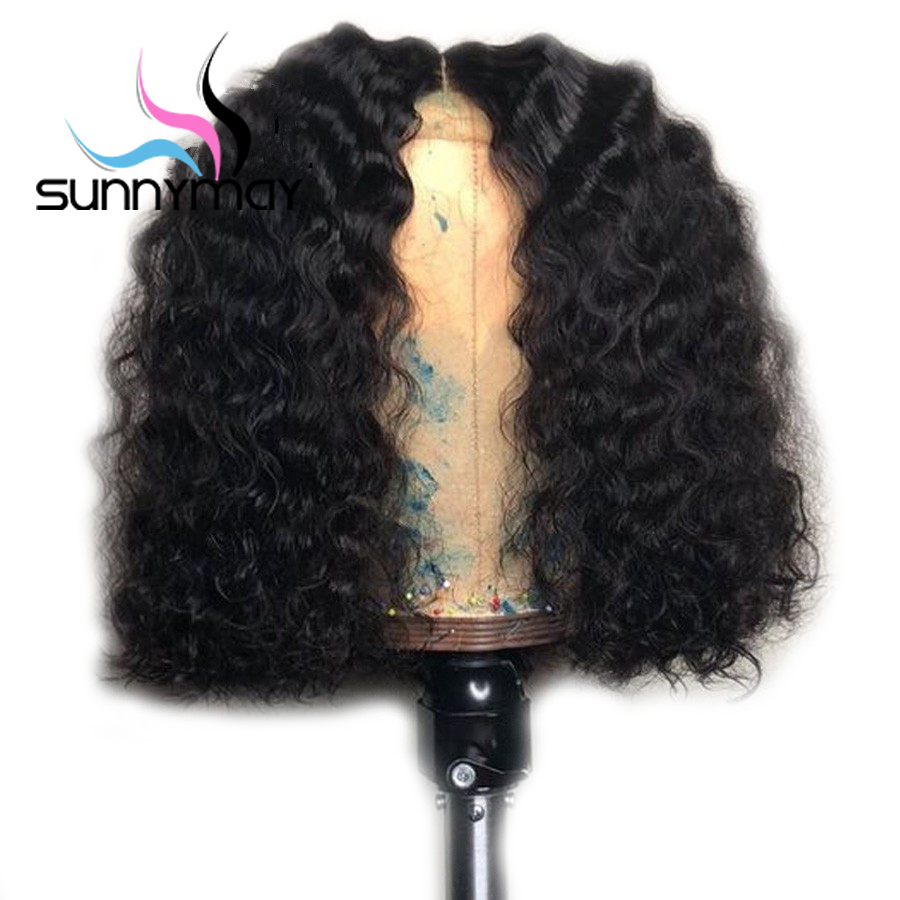 Sunnymay Short 4x4 Curly Human Hair Wigs Remy Brazilian Lace Front Wigs With Baby Hair Pre