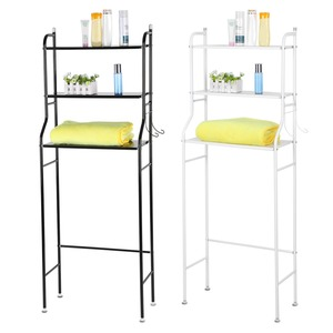 Image 5 - 3 Tier Iron Toilet Towel Storage Rack  Over Bathroom Shelf Organizer for Store Shampoo / Towel etc Accessory High Quality hot