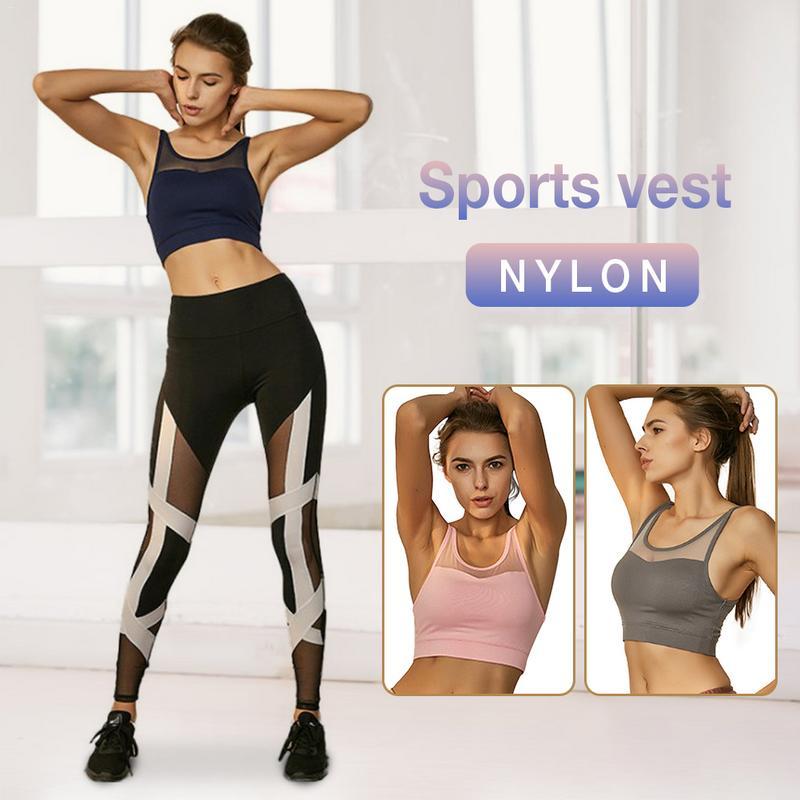 Short Vest Sports-Bra Fitness Breathable Hot-Sale Pierced Anti-Vibration Beauty-Back