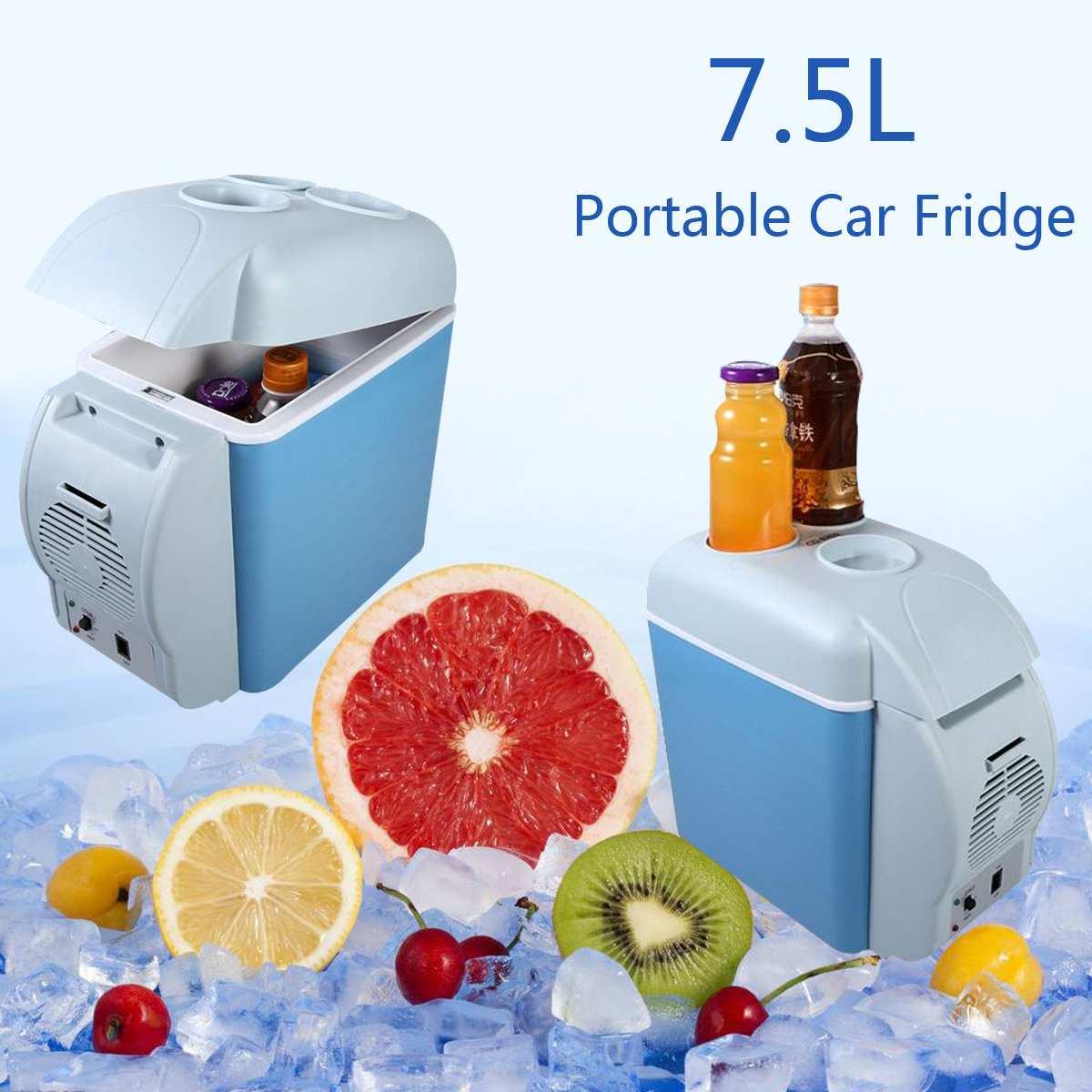 KROAK 7.5L portable Mini voiture réfrigérateur réfrigérateur refroidisseur plus chaud pour la maison voyage refroidisseur congélateur plus chaud 12/24 V