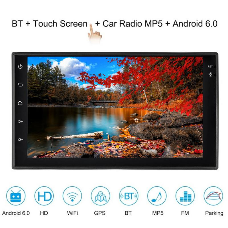 7 Inch Smart Android 6.0 2 Din Car Stereo Radio Player 1024x600 Touch Screen Head Unit GPS Navigator Bluetooth Wifi AM/FM7 Inch Smart Android 6.0 2 Din Car Stereo Radio Player 1024x600 Touch Screen Head Unit GPS Navigator Bluetooth Wifi AM/FM