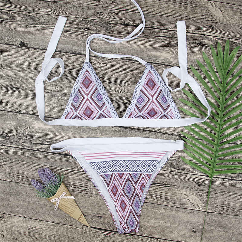 Womens Bikini Set Multi Color Bandage Halter Push-Up Triangle Swimwear Swimsuit Bathing Brazilian Women Swimming Suite Lot