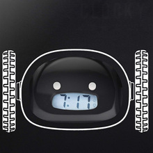 Running On Wheel Digital LCD Alarm Clock.