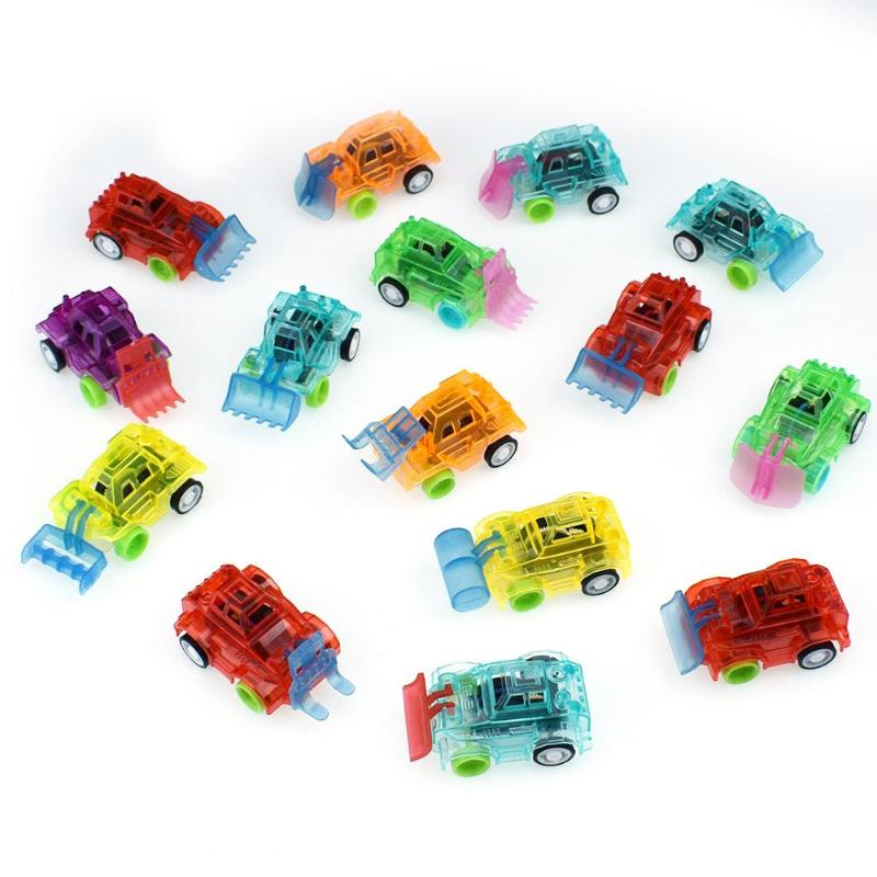 1PC Plastic Transparent Car Toy Pull Back Small Engineering Car Model Kid Toys Gift Random Color