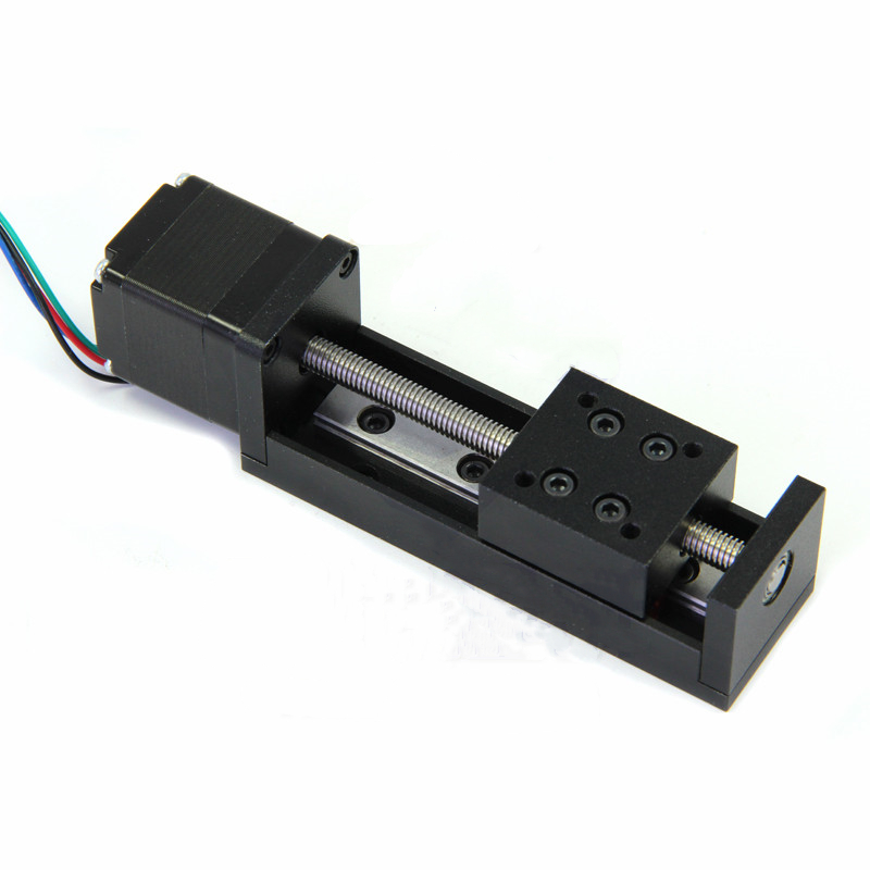 CNC MIni Linear Guide Rail Slide Actuator T6 Lead Screw Motion Stepper Motor Stroke 50 200MM