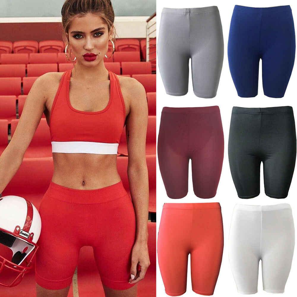 4183e2d53dfe0 ... Hirigin Women Ladies Girl Sports Shorts Running Gym Fitness Short Pants  Workout Casual Knee Length Running ...