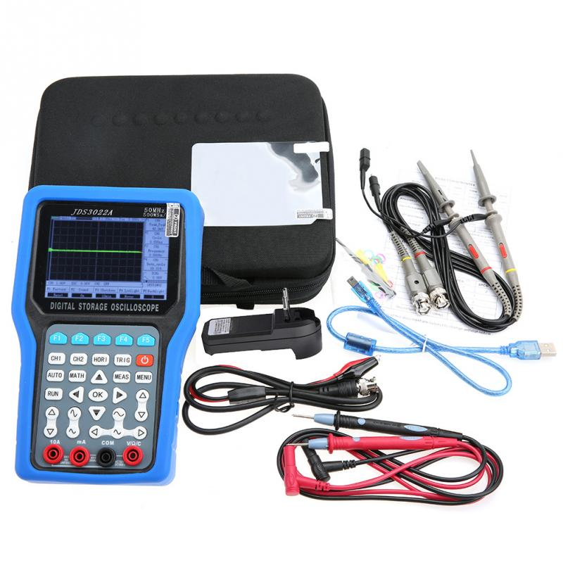 jinhan Digital Signal Generator JDS3022A Handheld Digital Oscilloscope 2CH 50MHz 500MSa/S Signal Generator AC110-220V цена