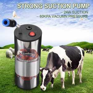 Image 3 - 24W Electric Milking Machine Cow Goat Sheep Milker Dual Vacuum Pump Bucket Food Safety Level Plastic Milking Machines