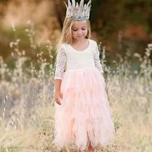 Baby girl clothes girls  summer dress Backless Party kids dresses for girls princess dress children costume for Kids clothes недорого