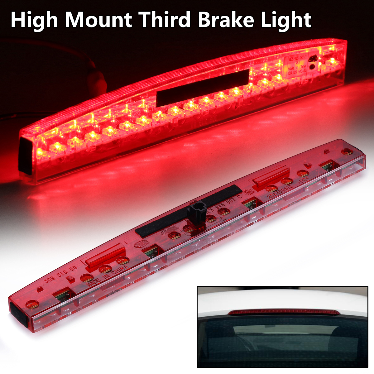 Red Led Car High Mount Third Brake Light Plastic Center Rear Stop Light Durable Taillight For AUDI A4 RS4 S4 B6 B7 2002-2008 цены
