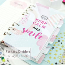 Get more info on the Fantasy Watercolor Refills Index Dividers A5 A6 for Organizer Notebook Beautiful Filler Pages 6pcs For 6 Hole Binder Planner