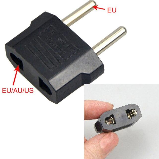1 Pcs 220 V/5A EU Adapter Xách Tay Thực Hành dual-sử dụng ổ cắm màu đen màu sắc biến đổi cắm ổ cắm adapter