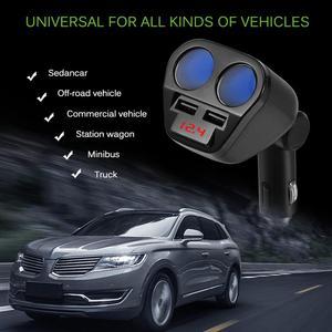 Image 5 - 1 To 2 120W 12V 24V Car Cigarette Lighter Socket Splitter Hub Power Adapter With Dual USB Charger Car Kits White/Black