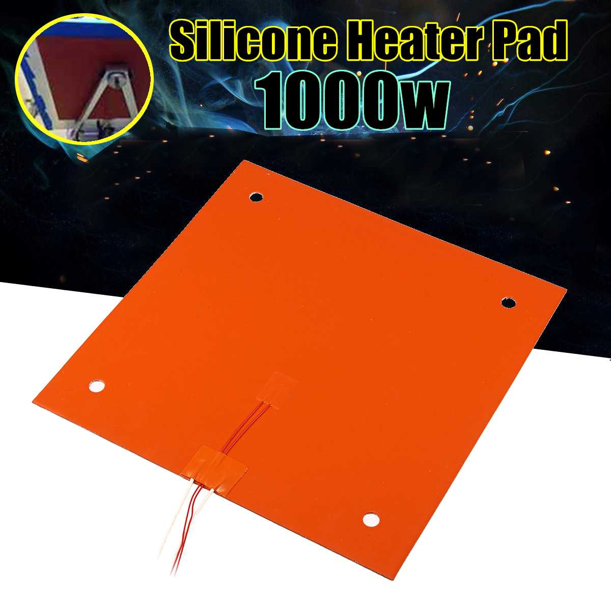 1000W 120V Silicone Heater Pad For CR-10 3D Printer Bed Electric Heating Mat Heatbed 3D Printer Parts Accessories 310x310mm