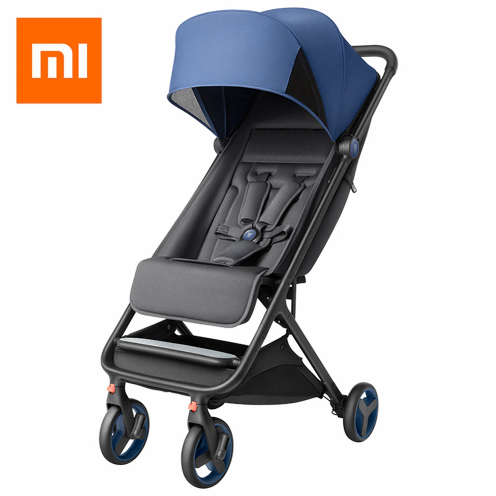 Xiaomi Folding Baby Stroller Car Lightweight Trolley Pram Four Season Use Hot Mom Stroller Shock-resistance Four Wheels Stroller