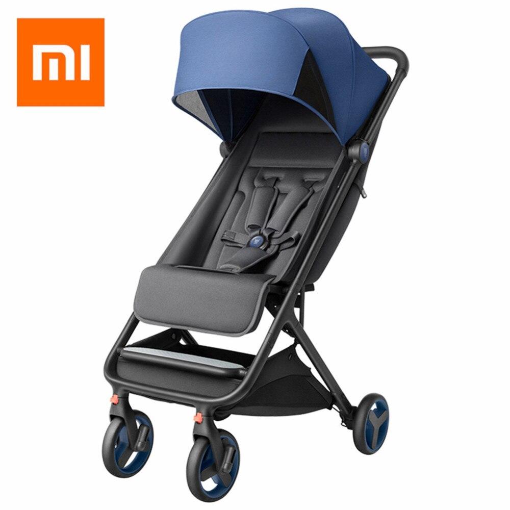 Xiaomi pliant bébé poussette voiture léger chariot landau quatre saisons utilisation chaude maman poussette résistant aux chocs quatre roues poussette