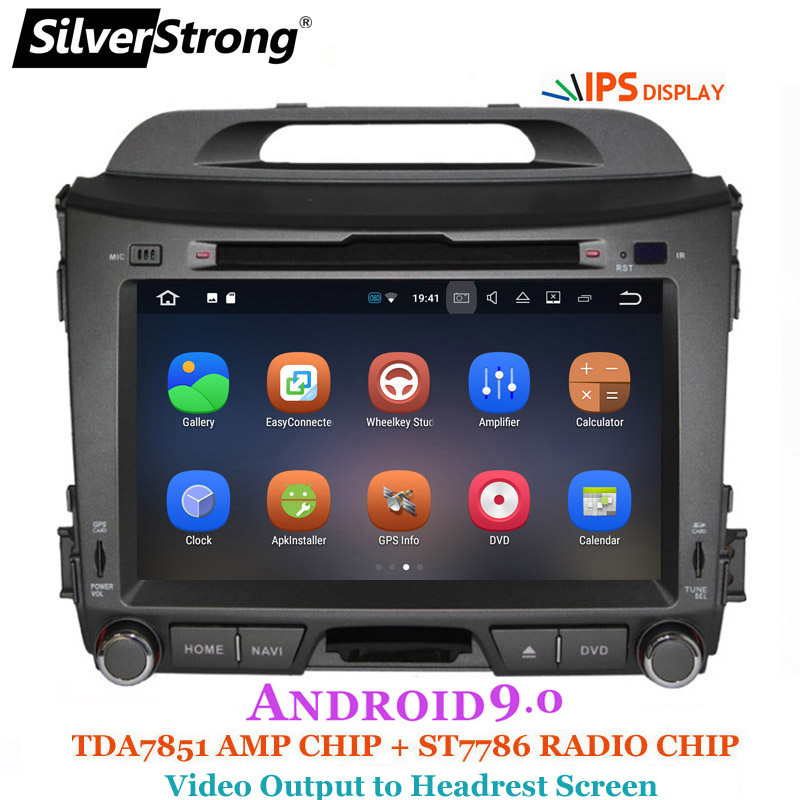 SilverStrong Car Multimedia IPS Android 9.0 for KIA Sportage3 Car DVD Radio Navigation 2din DVD Sportager GPS Navigation wifi-in Car Multimedia Player from Automobiles & Motorcycles    3