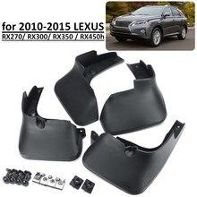 Aletas da lama do carro para lexus rx rx270 rx300 rx350 rx450h 2010 2015 respingo guardas mudflaps acessórios
