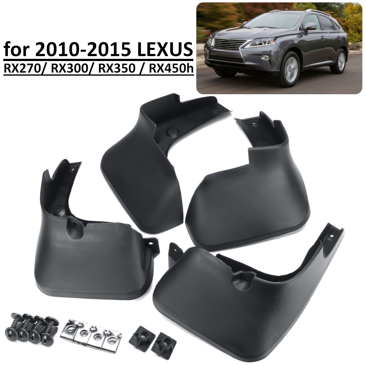 Car Mud Flaps For LEXUS RX RX270 RX300 RX350 RX450H 2010 2015 Splash Guards Mudflaps Mudguards Accessories-in Mudguards from Automobiles & Motorcycles