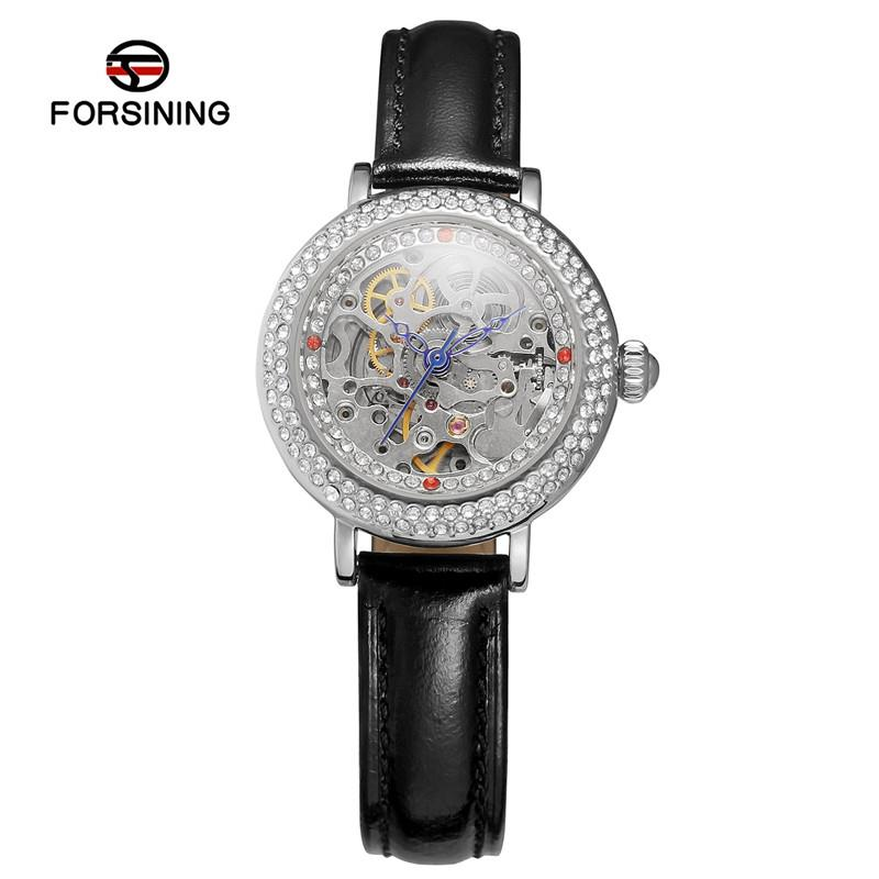 Womens luxury leather strap gold dial skeleton automatic mechanical watches 2019 fashion casual ladies brand wristwatchWomens luxury leather strap gold dial skeleton automatic mechanical watches 2019 fashion casual ladies brand wristwatch