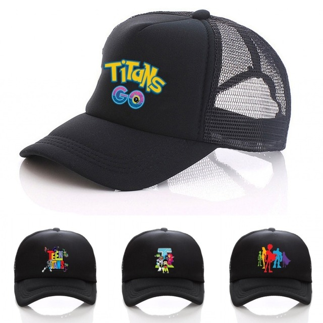 newest c4419 8ca19 New anime Teen Titans black Sunscreen Adjustable Baseball cap Hip Hop men  women hat