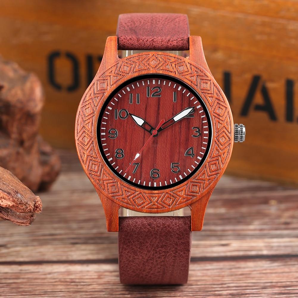 Handmade Wood Watch Leather Watch Band Environmental -3823