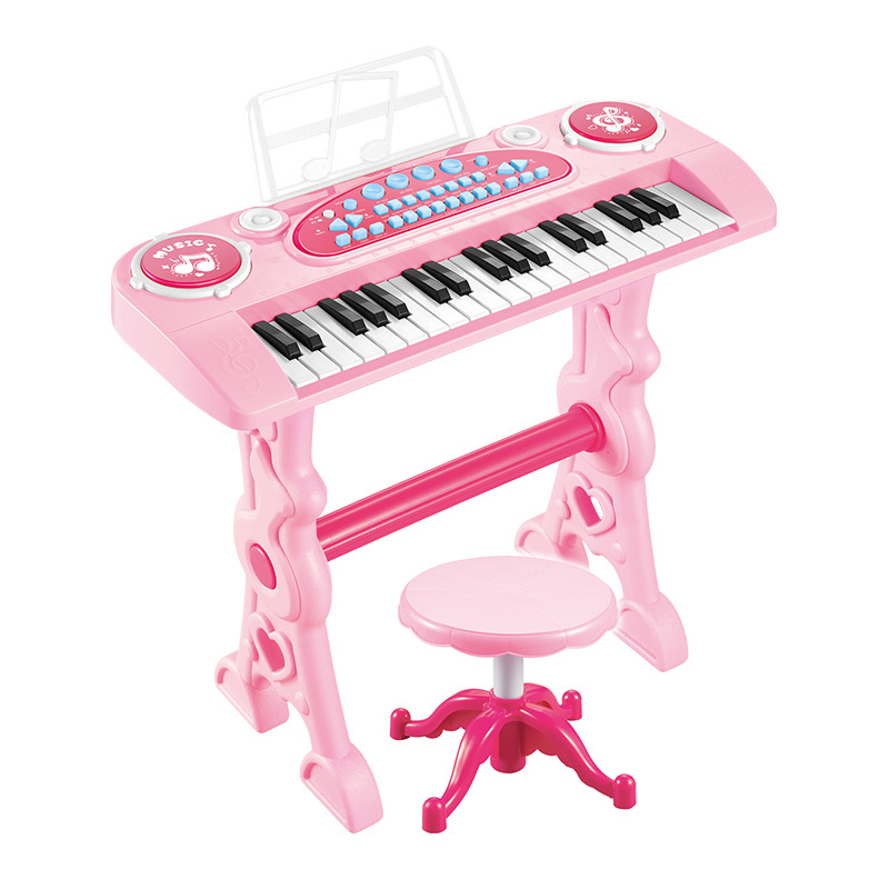 37 touches rose clavier électronique Piano avec micro adaptateur chaise Double adaptateur secteur entrée automatique contrôle du Volume orgue électronique